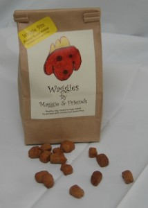 Bag of Peanut Butter WaggieBits Treats