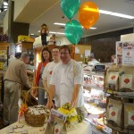 Brendan and Matt with Christine at Janssens Market in Greenville, DE.